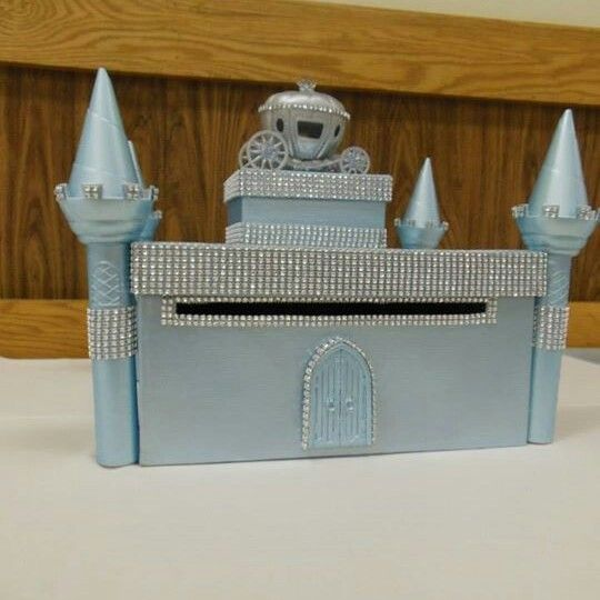 Custom Cinderella themed card box I made for wedding