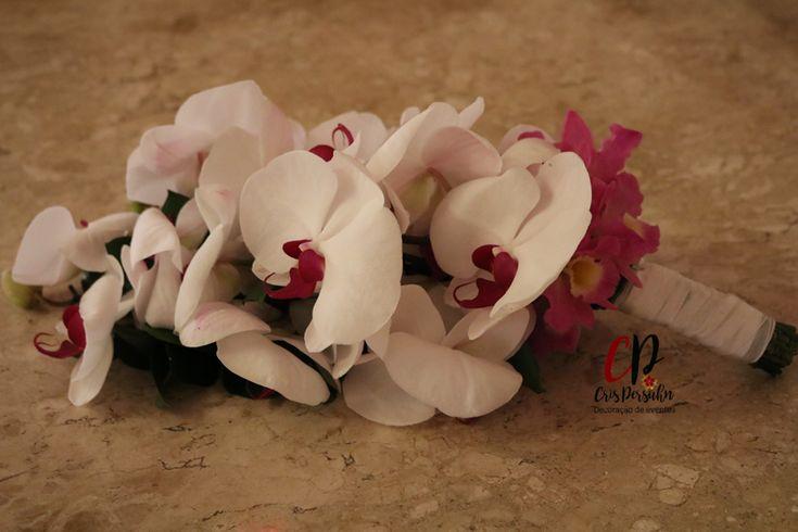 Bouquet de noiva com orquídeas