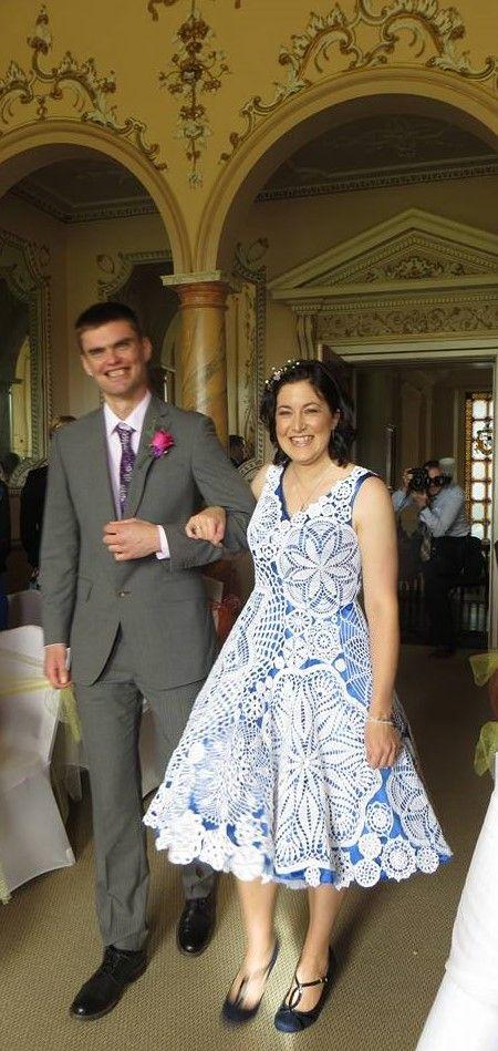 Aberdaisy crochet wedding dress 1