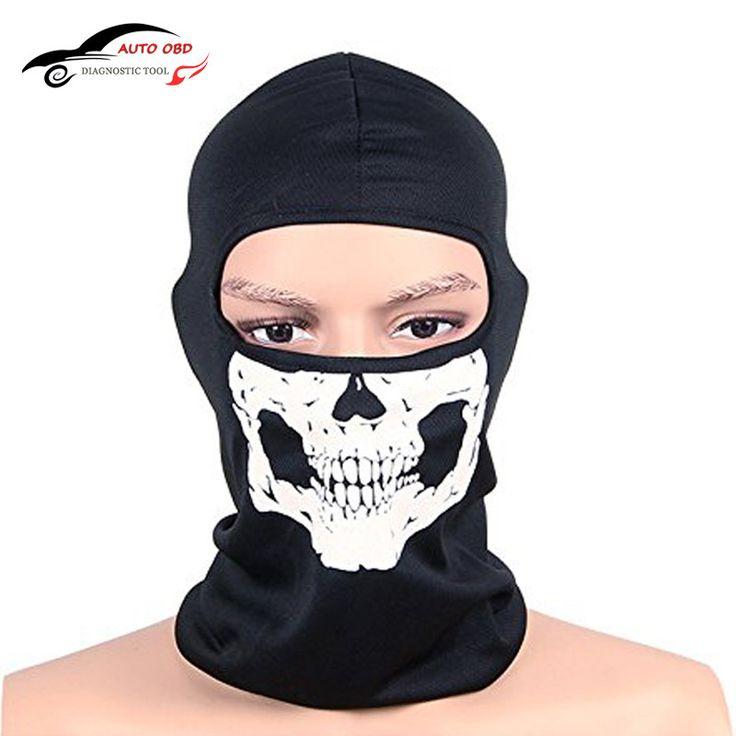 Balaclava Motorcycle CS Ghost Skull Hood Full Face Mask Ski Sport Helmet Snood Biker Motorcycle Face Mask Neck Scarf Headwear