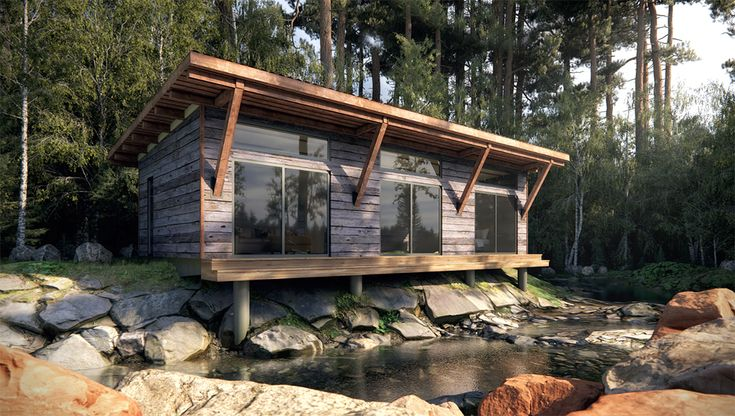 Nomadic Shack Contemporary Yet Rustic Modular Cabins