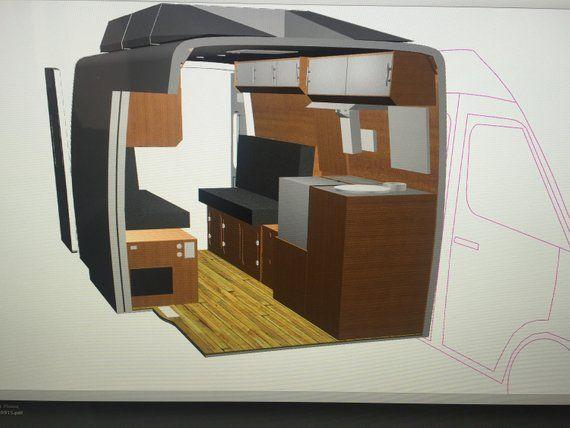 Sprinter Van Camper Conversion Plans and 3D CAD files (Rhino