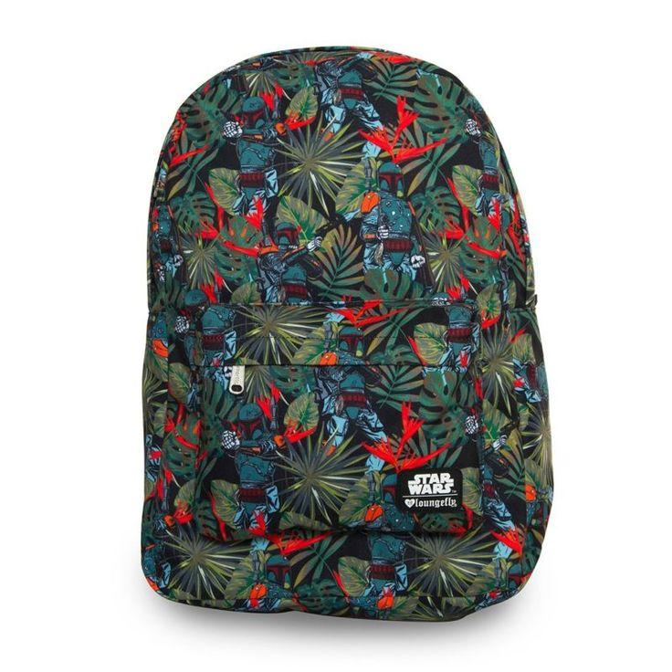 Loungefly x Star Wars Boba Fett Bright Leaves backpack ⭐️ Star Wars fashion ⭐️ Geek Fashion ⭐️ Star Wars Style ⭐️ Geek Chic ⭐️