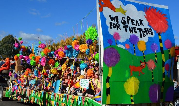 kids parade float ideas | Lorax Parade Float