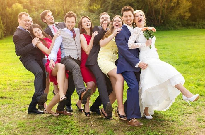Hochzeitsbilder mit Freunden
