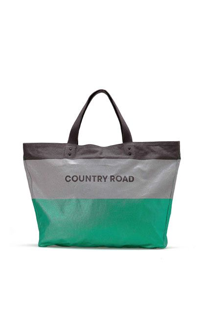 Country Road   Colour Block Stripe Totes   Available in more colours.   $64.90