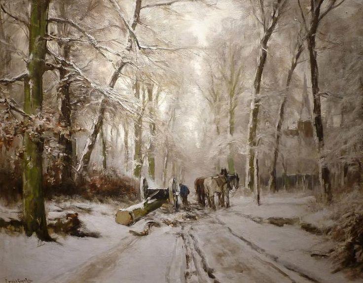 Louis Apol - Winter in de Scheveningse bosjes