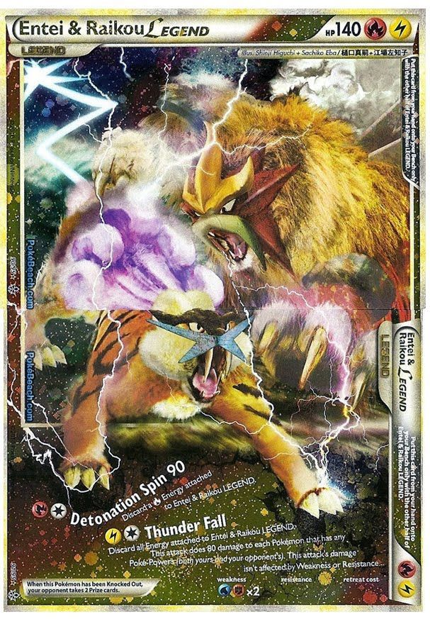 Legend Pokemon Cards | Pokemon Card of the Day: Entei & Raikou ...