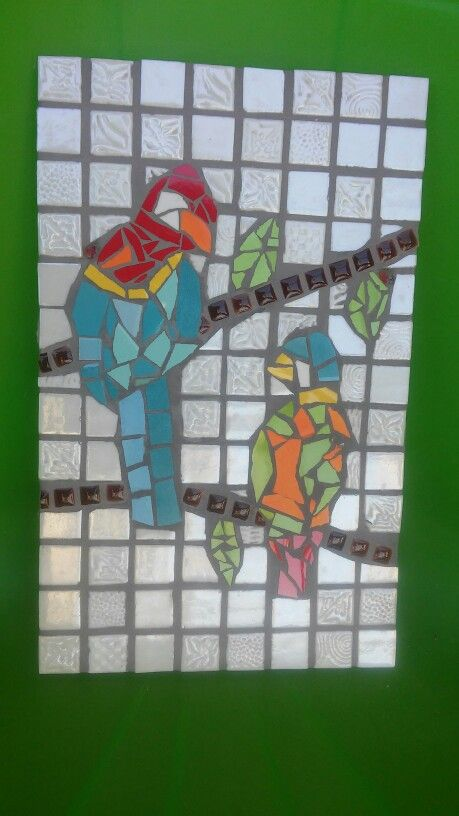 Mosaic birds - made by my son