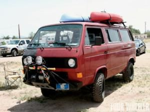 Diesel power, locking differentials, and a truck bed make this 1990 Volkswagen Vanagon one capable rig.