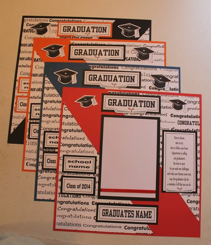 PICK 1  Pre made 12 x 12 PERSONALIZED FOR YOU - GRADUATION scrapbook page