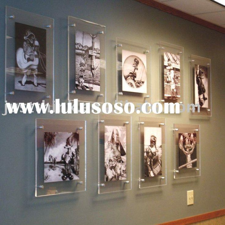 acrylic plastic wall hung photo picture frame FZ-E-1001