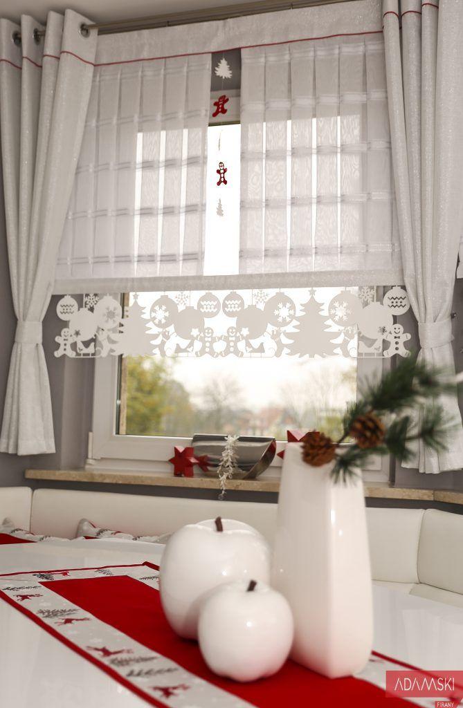 Firany Do Kuchni Boże Narodzenie 2017 Home Curtain