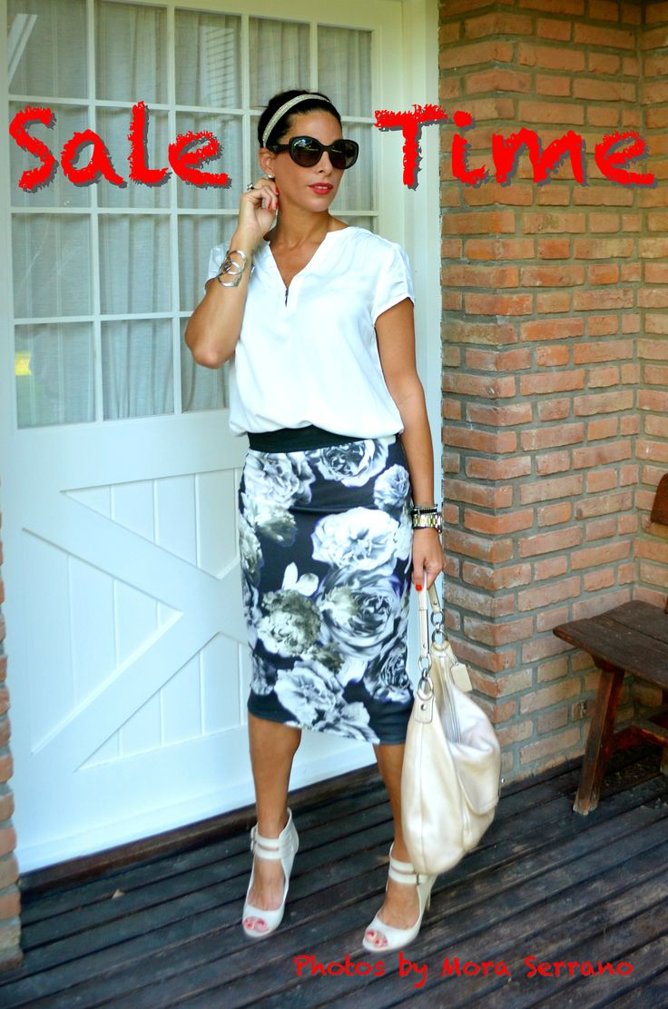 Pencil Skirt and Silk Blouse - Sale Time