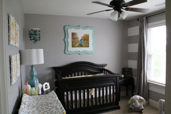 Yellow, Grey and Teal Gender Neutral Nursery..... Absolutely GORGEOUS!