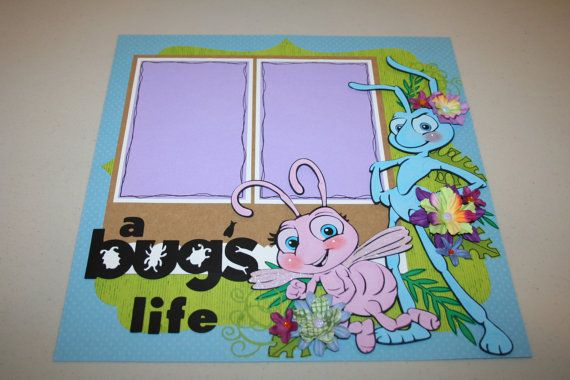 A Bug's Life 12 x 12 Double Page Layout by PaperCraftsByViolet