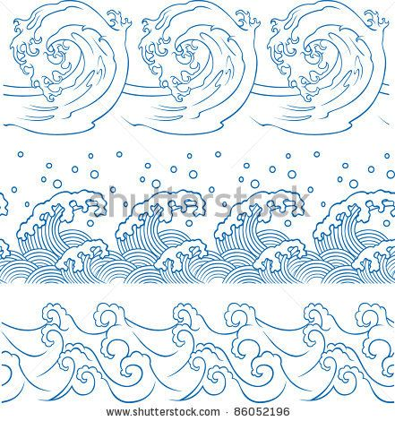214 best wave cloud flame images on pinterest tattoo designs how to draw waves how to draw ocean wave page 2 ccuart Gallery