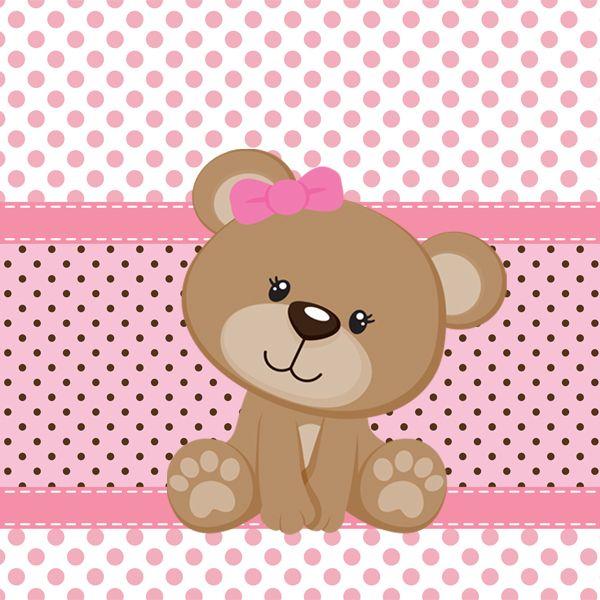 Tags de Ursinha rosa e marrom para imprimir - Dicas pra Mamãe
