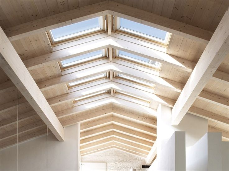Skylights along the ridge of the attic/master suite