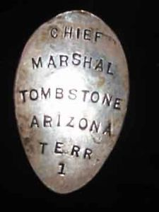 Old Tombstone Chief Marshal Badge