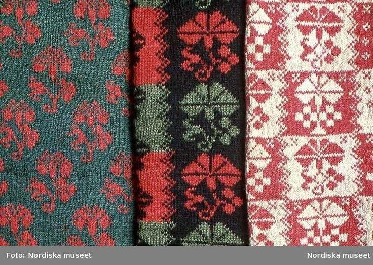 Swedish knitted folk patterns