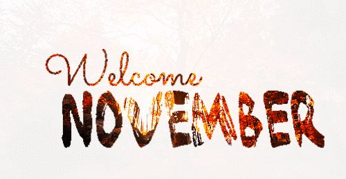 Welcome November autumn fall text gif month flash november hello november november quote