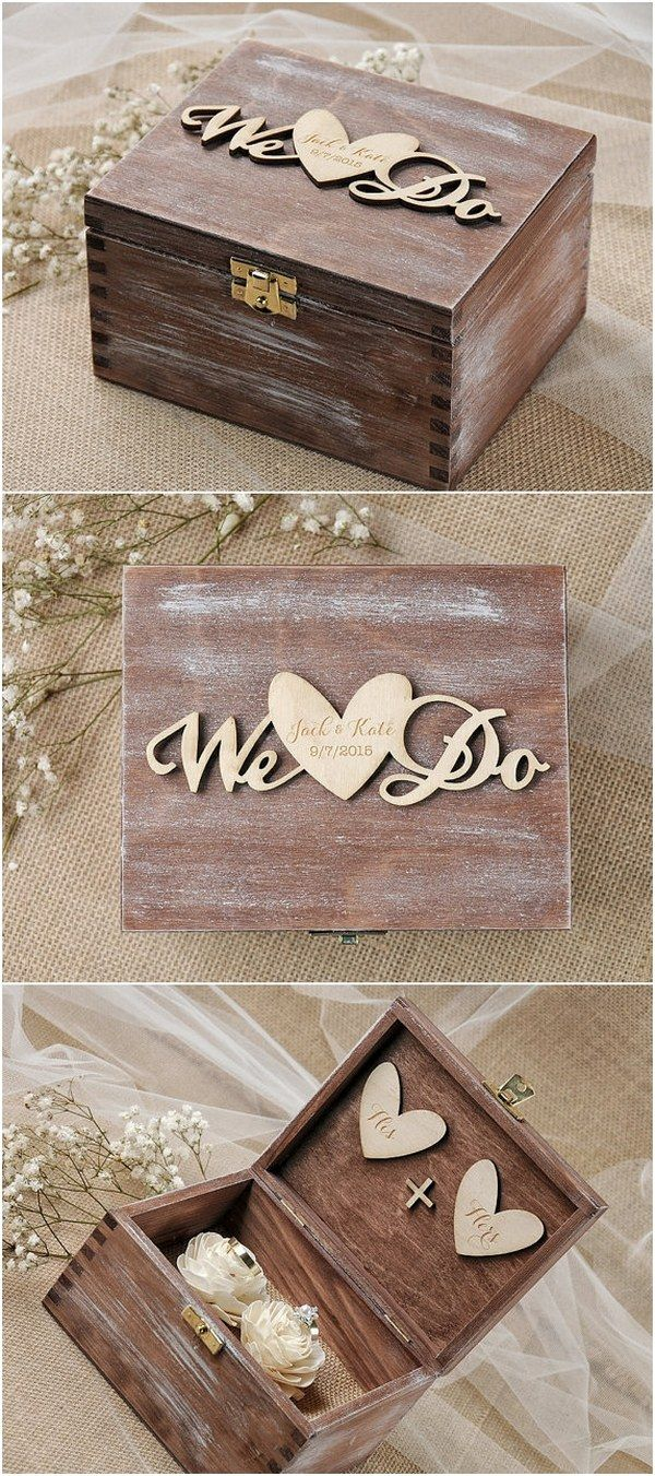 Rustic country wedding ideas - WE DO wedding ring box