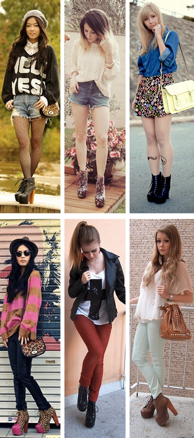 Jeffrey Campbell - Lita Boots Looks- I want them alllllllll!