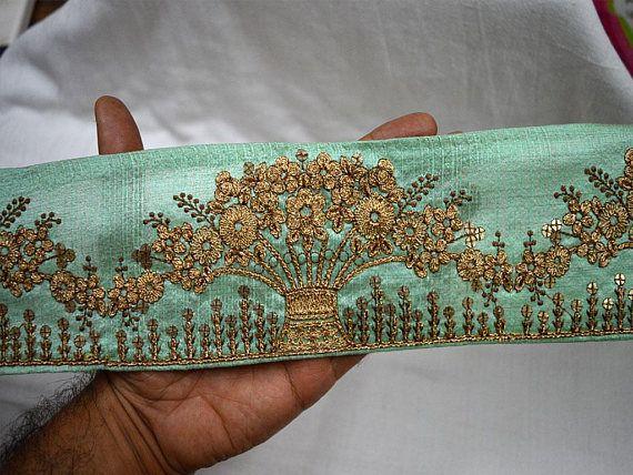 1 Yd  Ribbon Trim Orange Braided Work Sewing Ethnic Sari Apparel Tape