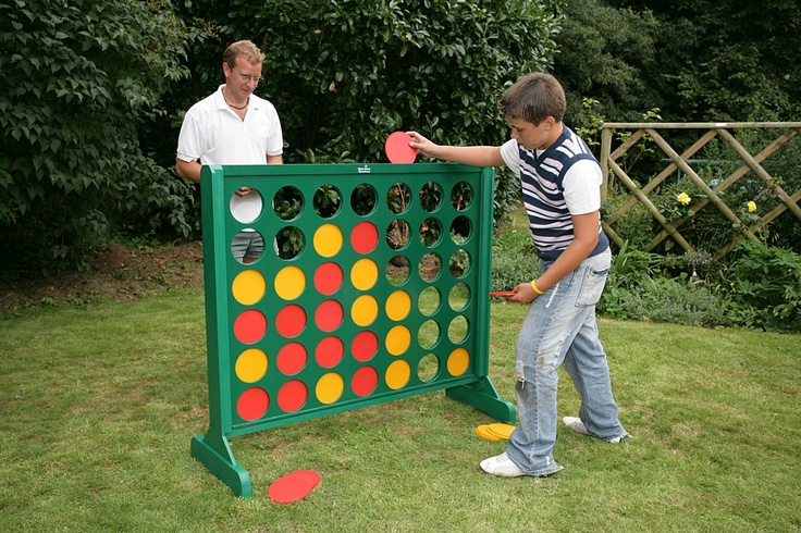Big Four  Code: QBF  A new painted wooden version of the popular table-top game. It stands 1.2m tall x 1.2m wide. Dark green painted wooden frame and includes red and yellow plastic playing counters. £150.00