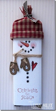Snowman Chocolate Bar