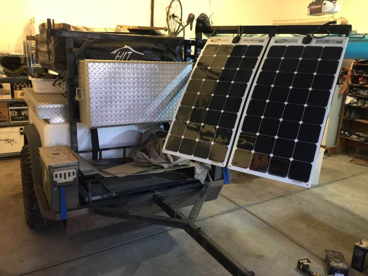 Sean build his DIY Dinoot trailer about five years ago.  Love his recent addition, a solar sail.
