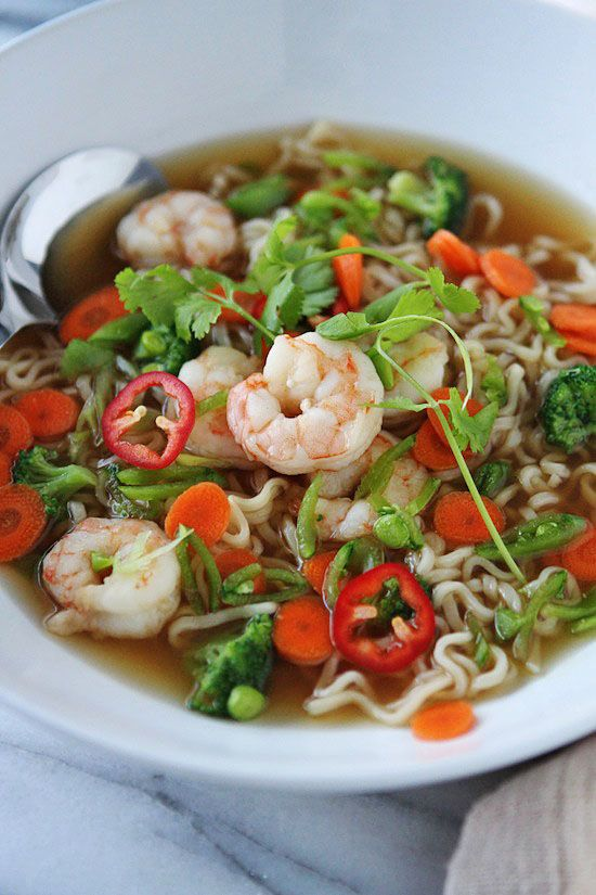 Shrimp and Veggie Ramen   Recipe   Vegetables, All love ...
