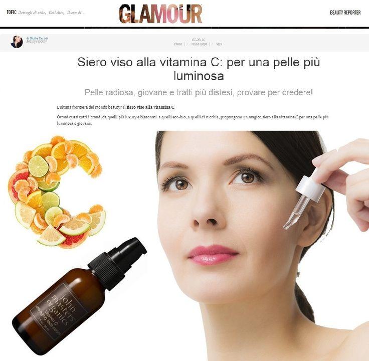 La rivista Glamour dedica un approfondimento all'importanza della vitamina C per la luminosità della pelle in Autunno. Ed ecco che a diventare protagonista è il Siero alla Vitamina C di John Masters Organics, L'UNICO AL MONDO 100% ORGANICO!