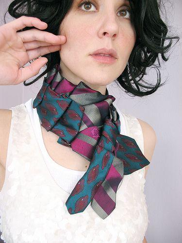 scarf from ties ...I love ties