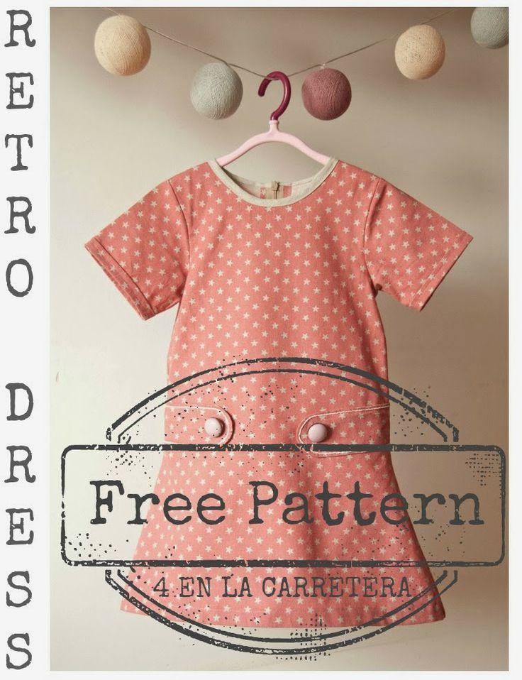 4ELC Free Retro Dress Pattern  Tutorial