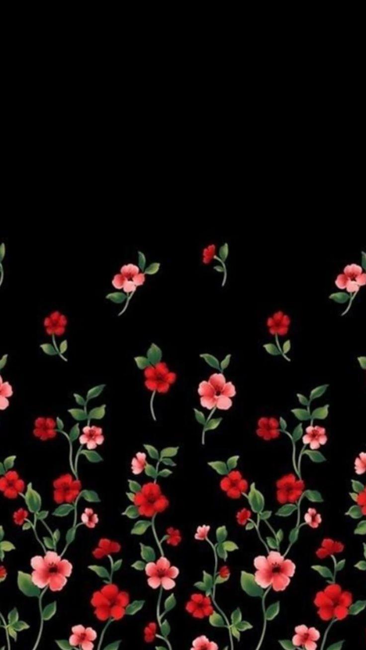 Black pink and white flower wallpaper yokwallpapers flower wallpaper black and white images decoration ideas mightylinksfo