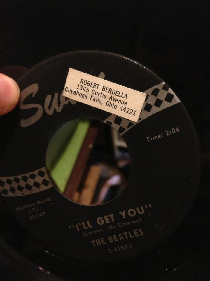 Found at a local record store - Beatles 45 owned by serial killer Robert Berdella - very relevant song title. - Imgur