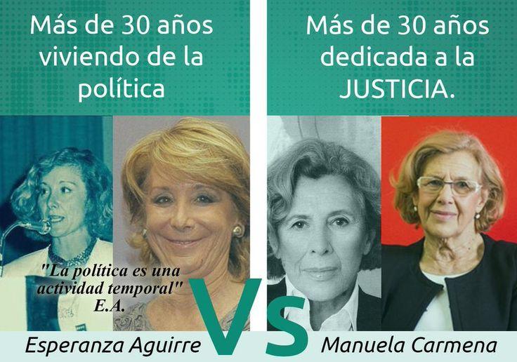 Empate técnico entre Manuela Carmena y Esperanza Aguirre. El 24M desempatas TÚ. #EfectoCarmena