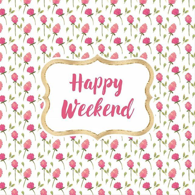 Happy weekend everyone! What are you all doing to relax and recharge for next week?