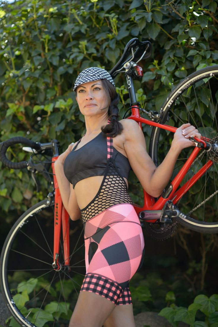 The best bibs! The halter top makes bathroom breaks easier! Our women's cycling jerseys, cycling shorts, capris, and pants are perfect for indoor or outdoor cycling! The bold patterns and designs will be sure you stand out in all the right ways! #womenscycling