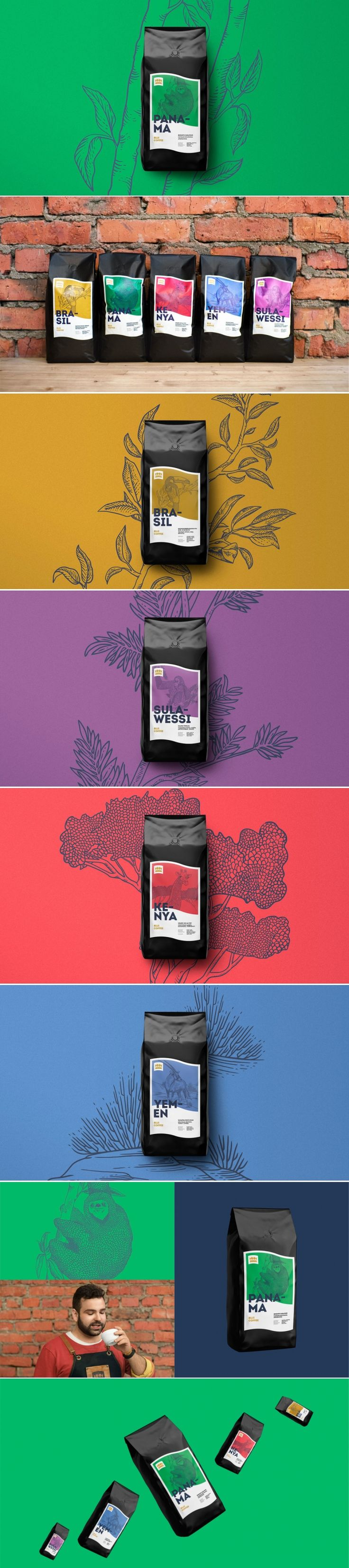 Biji Coffee Gets a Colorful Look With Illustrations Inspired By The Origins of the Beans — The Dieline | Packaging & Branding Design & Innovation News