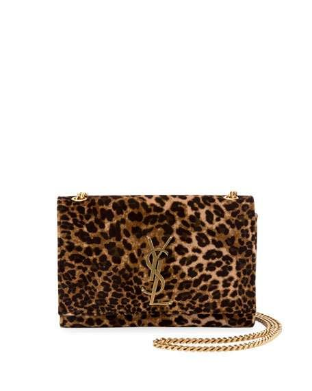 2403e7711210 Get free shipping on Saint Laurent Kate Monogram YSL Small Leopard-Print  Velvet Crossbody Bag at Neiman Marcus. Shop the latest luxury fashions from  top ...