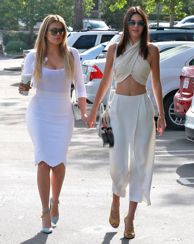 Kendall killed in a crop top, and Khloe's curves were dangerous. | This Is How The Kardashian-Jenner Family Does Church