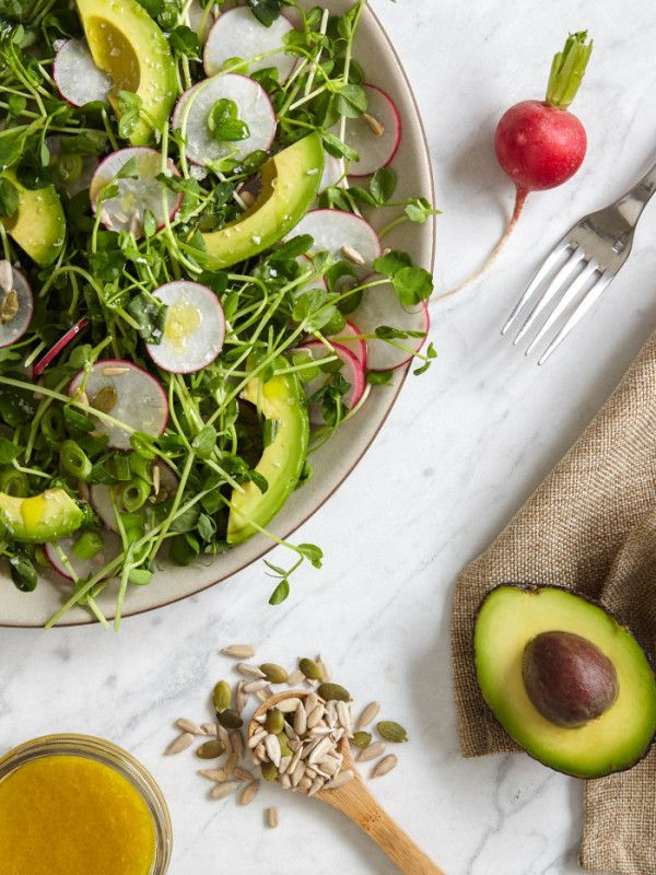 Sprout, Radish & Avocado Power Salad