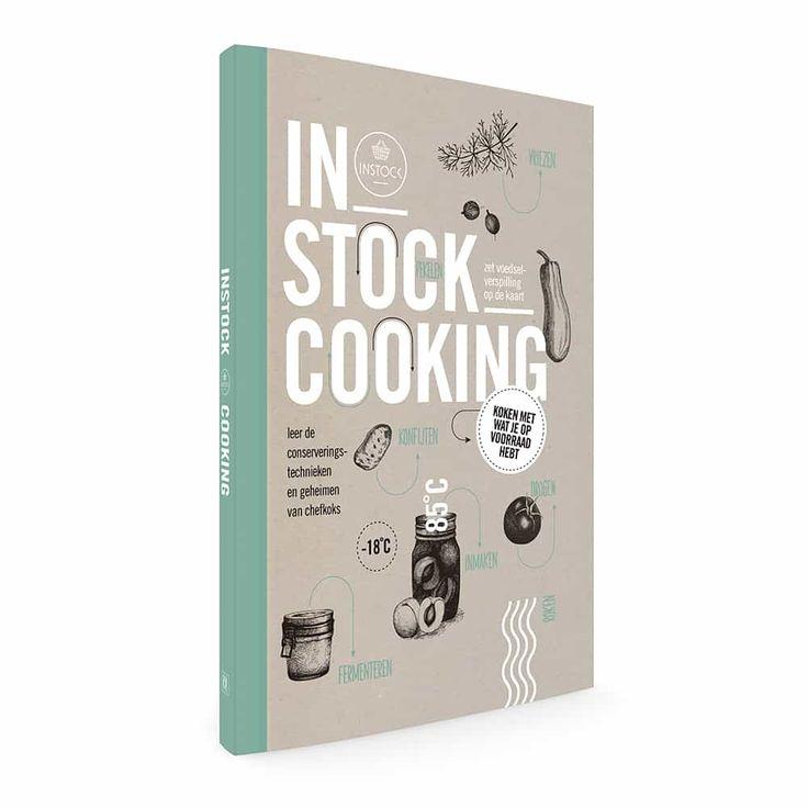 Zonder dat je erbij stilstaat, gooien we per persoon 47 kilo eten per jaar in de afvalbak. Daarom maakte Instock een kookboek die je helpt om thuis minder te verspillen. Aan de hand van acht conserveringstechnieken (inmaken in zoet en zoetzuur, fermenteren, vriezen, pekelen, roken, drogen en konfijten in vet) laat Instock Cooking zien hoe je van overgebleven producten unieke gerechten creëert.