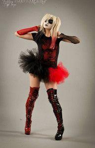 Harley Quinn Adult Tutu Mini Micro Black RED Skirt Adult Halloween Costume Dance | eBay