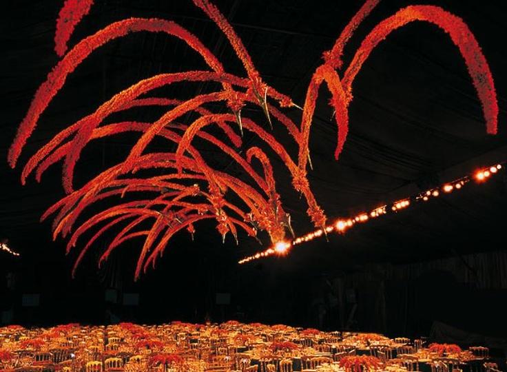 Floral fireworks but the world's greatest flower designer Daniel Ost