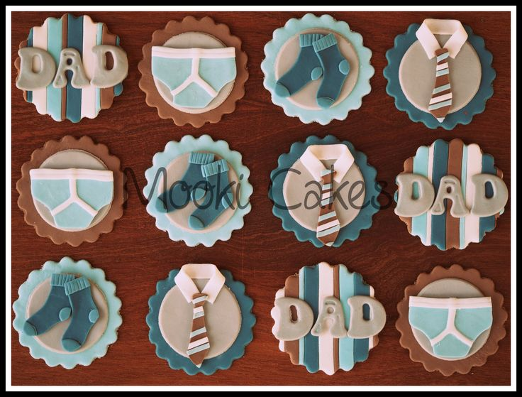 Father's Day cupcake toppers - Socks, jocks and ties - what more could Dad want for Father's Day? (Inspiration for tie topper was taken from Delish Gourmet Cupcakes website http://delishgourmetcupcakes.com/index.php/category/gallery/seasonal/)