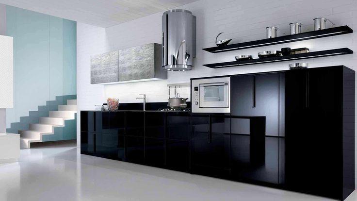 Полки на кухню: смарт-организация кухонного пространства и 75 решений, в которых все на своих местах http://happymodern.ru/polki-na-kuxnyu-foto/ Открытые полки - скорее предмет декора, чем функциональная мебель на кухне хай-тек